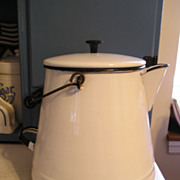 Enameled Graniteware Kettle