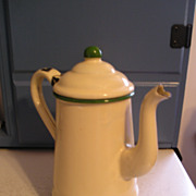 Enamel Graniteware Tea Pot