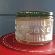 Glass Advertising Jar-Palmolive Shaving Cream