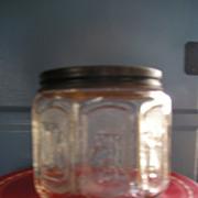 Glass Advertising Jar-Barbasol Shaving Cream