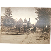 Vintage Steam Paver Photograph