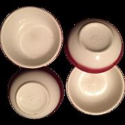 Buffalo China Pottery:Berry Bowls:Raspberry Mist