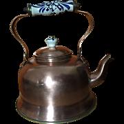 Copper Tea Kettle:Porcelain Handle
