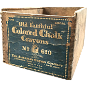 """Old Faithful"" Jointed Wood Crayon Box"
