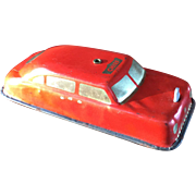 Tin Lithograph Fire Chief Car by ARGO