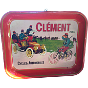 Clement Cycles and Automobiles Metal Serving Tray