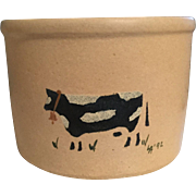 Stoneware Crockery Bowl:Robinson Ransbottom:Cow
