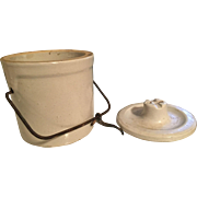 Stoneware Cheese Crock with Bail Handle