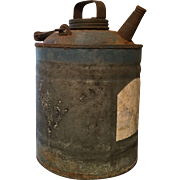 Oil or Kerosene Galvanized Tin Can