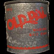"Galvanized ""Old Pal"" Bait Bucket"