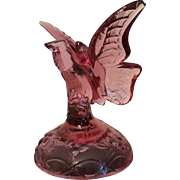 Purple Glass Butterfly Paperweight