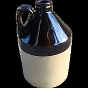 Stoneware Jug-Brown & Tan