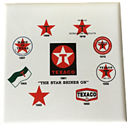 Texaco Gasoline Advertising Coasters