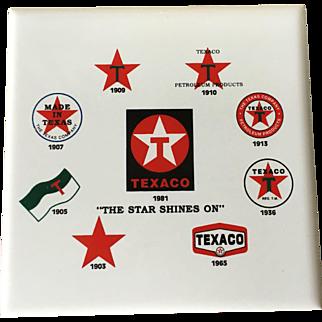 Texaco Gasoline Advertising Coasters
