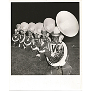 Photograph-Black and White-High School Tuba Line