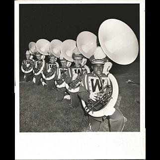 Photograph-Black and White-High School Tuba Line
