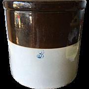 Brown and Tan 3 Gallon Crock