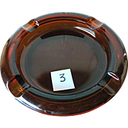 Amber Glass Ashtray