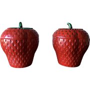 Glass Strawberry Jars