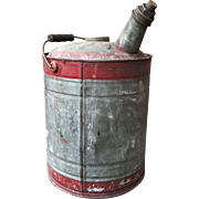 Galvanized Gasoline Can