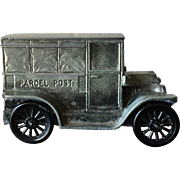 Cast Metal Mail Truck Bank