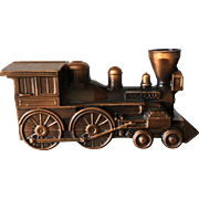 Bronze Plated Still Bank-Music Box-Train