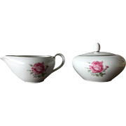 Porcelain Creamer and Sugar-Made in Japan-Imperial Rose