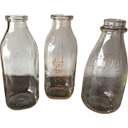 Three Quart Milk Bottles