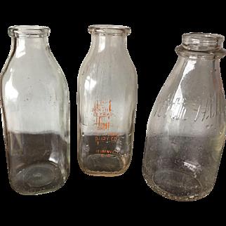 Three Quart Milk Bottles