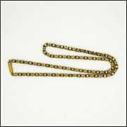 "Victorian 15K - 18K Gold Necklace - 15½"" - 10.3 grams"