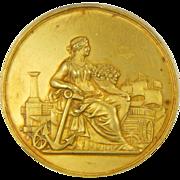French 1895 Silver Gilt Nantes Medal - LEMOINE