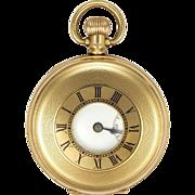 English 1926  9K Gold Dennison Pocket Watch -Half Hunter