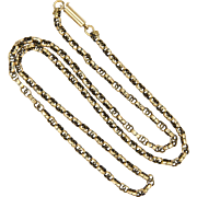"""Victorian English 9k Gold Fancy Link Chain Necklace -16½"""" - 5.1 grams"""