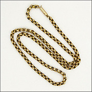 Victorian 9k Gold Belcher Chain Necklace
