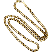 Victorian 9k Gold Belcher Chain Necklace - 16¾inches - 7.7 grams