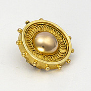 Victorian 18K Gold Lace Pin