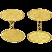 English Art Deco 9K Gold Boxed Cufflinks