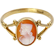 Antique 18K Gold Cameo Ring