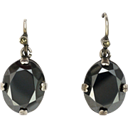 French Silver and Hematite Gemstone Earrings- Pierced