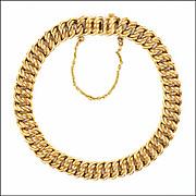 French MURAT 18K Gold Filled Curb Link Bracelet