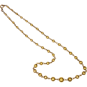 French MURAT 18K Gold Filled Graduated Bead Necklace