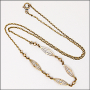 English 9K Rose Gold Decorative Necklace