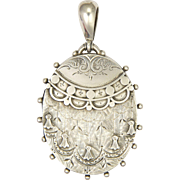 Victorian Sterling Silver Swags and Tassels Locket