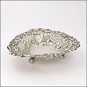 English Late Victorian Sterling Silver Pin Dish - William Aitken