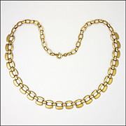 French Gold Filled Modernist Necklace - MURAT