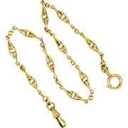 French Antique Gold Filled Watch Chain/Bracelet  - FIX