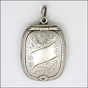 English 1919 Sterling Silver Compact Pendant - Adie and Lovekin