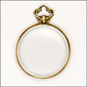9k Gold Glass Locket - Glasgow 1913