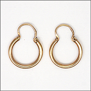 French Art Deco 18K Gold Filled Creole Earrings - ORIA