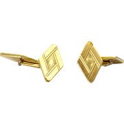 French Art Deco 18K Gold Filled Cuffkinks - FIX - Red Tag Sale Item